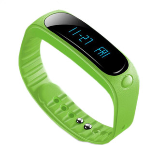 E02 Smart Bracelet Waterproof Bluetooth Activity Sports Tracker Smart Wristwatch Call SMS Reminder Smart Watch Connecte For Iphone Android