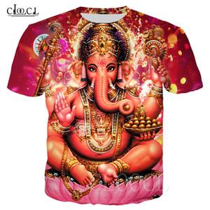 Hinduism God Ganesha T-shirts Women Men 3D Printed Ganesha Clothing Short Sleeve Fashion Couples Tops Drop Shipping