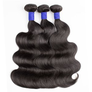 cuerpo extremo grueso Kisshair onda 3pcs haces de pelo en bruto humanos cutículas alineado extensión del pelo indio remy brasileña