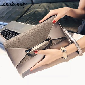 Znakomity Envelope clutch bag women leather Birthday party evening clutch bags for women Ladies shoulder clutch bag purse female CJ191219