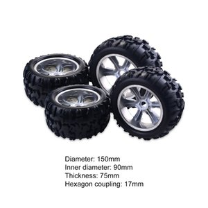 4PCS RC Car Wheel Rim Tire for Redcat Hsp Kyosho Hobao Hongnor Team Losi GM HPI 1 8 Truggy Monster Truck Rubber Tyre 17mm Hex
