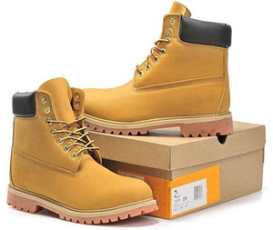 timber Boots land Authentic Brand Motorcycle Men Casual 6-Inch Premium Boots Women Waterproof outdoor 10061 Wheat Nubuck boots size 36-45