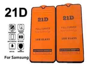 Pantalla completa 21D10H curvo vidrio templado transparente Protector de pantalla para Samsung Galaxy S10 E A10 A20 A30 A71 A40S A50S A60S A91 M10 M20 M50
