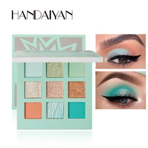 DHL FREE HANDAIYAN Eye Makeup Eyeshadow Pallete 9 Color Shimmer Pigmented Eye Shadow Maquillage Matte Shimmer Eye Shadow Powder Beauty