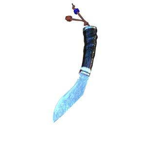 BB-02 à la main de Damas Petit Scimitar sauvage Black Sheep Manche en Corne G10 survie Machete Damas Motif courbé Couteau avec gaine en cuir