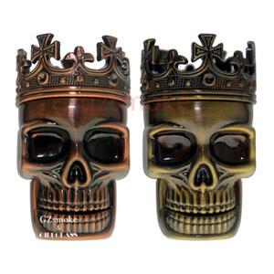 Tabaco Grinders esqueleto do projeto do crânio Novidade metal Spice Grinder Pólen Crusher 3 Camadas para Kit cigarro seco Herb eletrônico