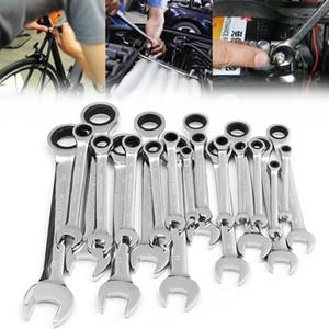 10pcs Mini Juego de llaves de combinación del destornillador del kit de reparación de la llave inglesa reparación de herramientas de trinquete reversible Utillaje electrónico Fin Métricas