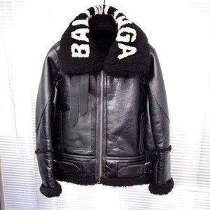 faux fur cordeiro patchwork carta casaco jaqueta de couro de camurça de impressão quente novos outono inverno design de moda das mulheres plus size S M L XL