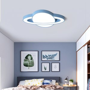 Rosa Amarillo Azul Blanco Led lámpara moderna Dormitorio macaron Niños luz de techo de techo de la sala infantil de 5 cm Led luces de techo
