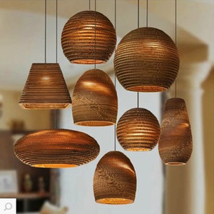Creative Honeycomb Paper Led Pendant Lights Fixture Modern Nordic Art Deco Hanging Lamp Cord Wicker E27 110-240V Home Lighting
