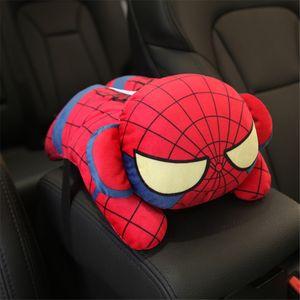 Car Tissue Holder Marvel Cartoon Tissue Box Cover Cute Plush Napkin Holder Car Seat Hanging Sun Visor Type Removable Tissue Case
