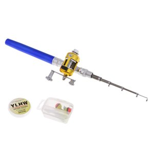 Pen Fishing Rod Reel Combo Set Telescopic Pocket Fishing Rod Aluminum Alloy Fishing Line Soft Lures