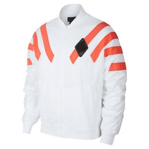브랜드 대형 윈드 디자이너 재킷 스트리트 화이트 블랙 스웨터 코트 지퍼 후드 얇은 스포츠 겉옷 Batwing B100028L
