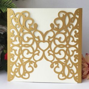 luxury hollow navy blue butterfly Royal lace laser cut Pearl paper envelop wedding invitaion birthday dinner party Multi Color Free Shipping