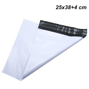25x38 + 4 cm White Express Shipping Postal Postal-Self-seal Mailer Envelope Pouch Adhesive Post Bags Courier Mailing Plastic Poly Bag Mail Pouch