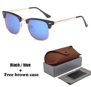 1pcs wholesale - Brand Designer Sonnenbrillen Hochwertige Katzenaugen-Sonnenbrille für Männer, Frauen, Unisex-Brille uv400 Objektiv mit braunen Fällen