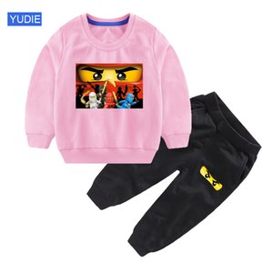 Kids Sets Legoe Ninjago Cartoon Sweatshirts Spring Autumn Children Clothing Boys Casual Sports Pants 2pcs 2020 Kids Tracksuits