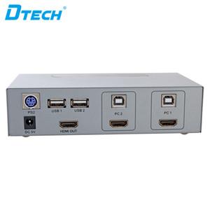 ponto quente HD 2 Entrada 1 Saída 2 * 1 2 Porta HDMI Switch KVM USB ficha de comutação e KVM jogo switch de vídeo automática