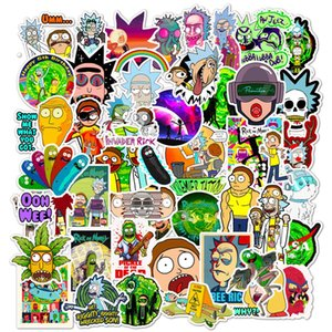 50 pcs bag Car Stickers Popular Cartoon Rick and Morty For Laptop Skateboard Pad Bicycle Motorcycle PS4 Phone Luggage Decal Pvc Stickers