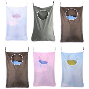 Appendere sacchetti di lavanderia per Dirty Abbigliamento Porta Lavatrici Bathroom Wall Storage Bag Hanging Portabiancheria con ganci 1 Pz