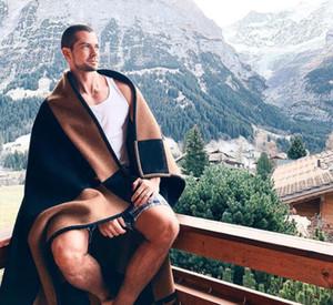 Cashmere coperta moda marca H velluto sciarpa scialle casa viaggi lettera calda originale maglia jacquard lana coperta di volo divano asciugamano arazzo