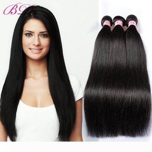 BD Silky Straight Human Hair Extensions Indian Straight Human Hair Weave Double Layers 3 4 Bundles One Set