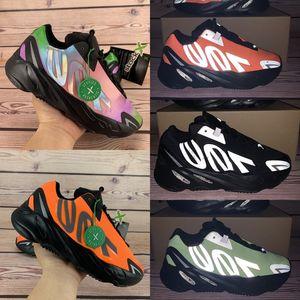Nuevos 700 de 3M hombre reflexivo Kanye West zapatillas Tie-dye Naranja Negro Triple hueso Fósforo hombres mujeres diseñador de zapatillas de deporte de Estados Unidos 5-11,5