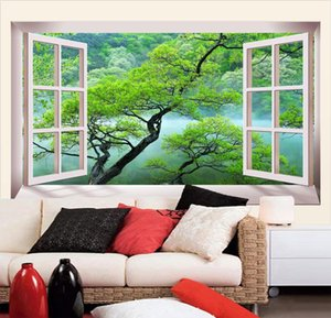 [ذاتية اللصق] 3D Window View 20220300 الجداريات ورق الحائط جدارية لصائق الحائط