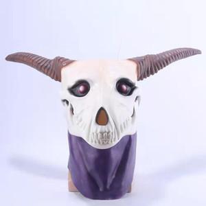 Anime Antike Magus' Bride Elias Ainsworth Magie Braut Halloween Cosplay Dämon Geist-Schädel-Kopf voller Latex-Maske machen