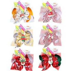 '' Pelle di Natale Jojo Siwa Big morbido 6pcs / Lot 7 Jojo Archi cute glitter patch clip archi dei capelli Boutique Accessori per capelli Capelli