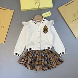 Baby-Kinderkleidung Set Mädchen Kinderbekleidung Kinder-Rock 2020 Sommer-neue Muster-Spitze-Kleid in den Kindern Prinzessin Verbandsmull