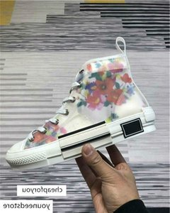 brang 2019 With Box Flowers Technical Canvas B23 low Top in Oblique Mens Brand Designer Womens Fashion Sneakers Shoes Boots