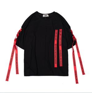 Mode-Mens nouvelle marque de marée de la marque de hip-hop populaire Tshirts coton confortable T-shirt respirant chaud rue T-shirts t-shirt de sport sauvage