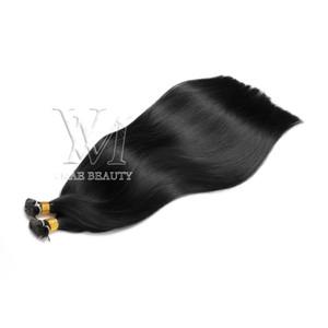 VMAE 1g strand 100g I tip Pre-bonded Hair Extensions Natural Black Brazilian Straight Keratin Double Drawn I Tip Virgin Human Hair Extension