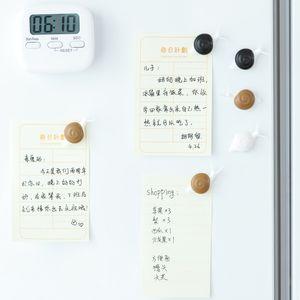 5Pcs / set Salyangoz Şekli dolabı Mıknatıslar Kuru Beyaz Tahta Marker Yazma Tutanak Mesaj Panosu Memo Pad Çıkartma Ev Dekorasyonu hatırlatın Wipe