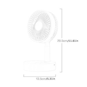 Electric Fan Folding Floor Fan Desktop Desktop Air Conditioner Cooler For Office Household Travel