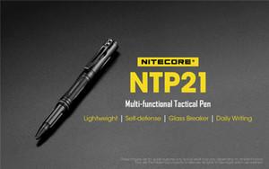 Nitecore NTP21 التكتيكية القلم متعدد الوظائف الدفاع القلم سبائك الألومنيوم مع رئيس التنغستن الصلب للزجاج قواطع الكتابة الدفاع الذاتي