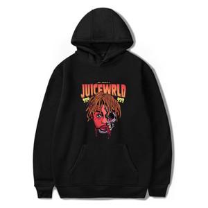 Hommes Hoodies Juice Wrld caractère d'impression de mode Pull Hip Hop Pull à capuche High Street sweat à capuche