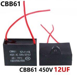 الرصاص CBB61 450VAC فان 12UF مكثف الخط مع بدء 10CM طول Jvppu
