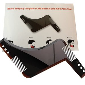 Hot 1PCS High Quality Beard Shaping Styling Template PLUS Beard Comb All-In-One Tool ABS Comb for Hair Beard Trim Template