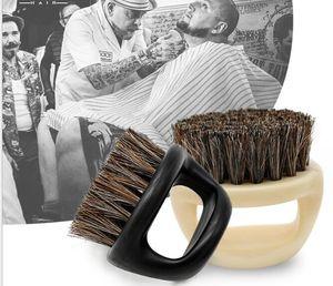Homens fixes Bigode Barba Escova anilha barba escova pescoço cabelo Penteado cabelo partido limpeza escova crina estilagem ferramenta de cabeleireiro
