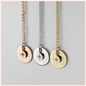 SG Personalized 925 sterling silver Polaris necklace inspirational custom compass pendant necklace women jewelry graduation gift