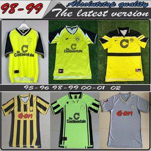 Top quality 98 99 retro 01 02 Borussia Dortmund soccer jerseys 2000 2002 classic Vintage football shirts AMOROSO ROSICKY BOBIC EWERTHON KOLL