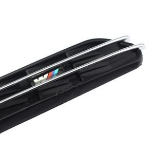 سيارة 2PCS M الجانبية درابزين فتحات تدفق الهواء مصبغة الشواية تناسب بي ام دبليو 3 سلسلة E36 E46 E90 الأسود