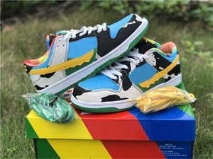2020 Authentic Ben &Jerry &#039 ;S X Sb Dunk Low Pro Qs Chunky Dunky Casual Shoes Men Women Lagoon Pulse Black University Gold Cu3244 -100