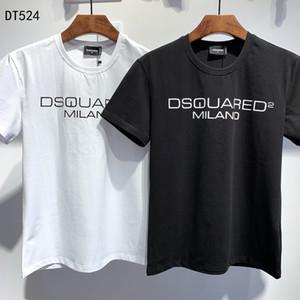 최고 품질 여름 패션 디자이너 ICON의 T 셔츠 # 002 유럽 D2 오프 럭셔리 남성 여성 셔츠 화이트 반소매면 프린트 티 메두사