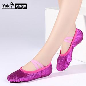 أطفال أحذية الباليه PU رقص الباليه النعال سبليت الوحيد بنات مدرسية راقصة الباليه ممارسة الرقص أحذية لل