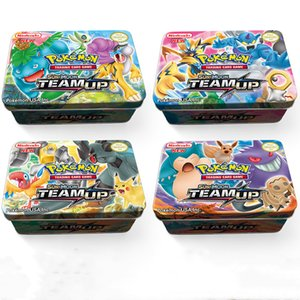 Nuovo arrivo Metal Box Game Cards mostro tascabile Team Up Carte 42PCS / Box DHL liberano i bambini migliori regali