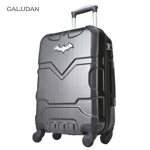 "CALUDAN 20 ""24"" بوصة ABS الأمتعة الصعود كلمة صندوق الثابت المتداول حقيبة حقيبة لمحبي البطل"