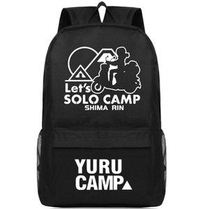 Yuru Camp backpack دعونا منفردا اليوم حزمة شيماء رين الكرتون حقيبة مدرسية packsack عارضة طباعة حقيبة الظهر الرياضة المدرسية daypack